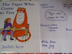 The Tiger who came to tea (or can also listen to audio story and collaborate to make illustrations for it.)