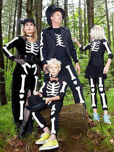 DIY Skeleton Family - Free Templates So You Can Create On Your Own! @FamilyFun magazine