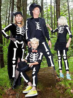 DIY Skeleton Family - Free Templates So You Can Create On Your Own! @FamilyFun magazine