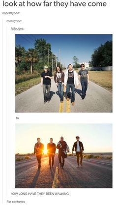 """Fall Out Boy has been walking for centuries"" #FOB #Music #Humor"
