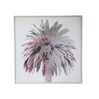 Palm Tree Square Foil Framed Canvas Print Wall Art