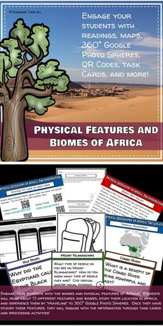 Physical features and Biomes of Africa