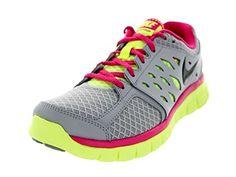 f7d64c8cdd2 Nike Womens Flex 2013 RN Wlf GryAnthrctVlt IcVvd Pnk Running Shoe 55 Women  US
