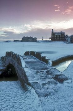 St Andrews in the snow - where William and Kate met at University