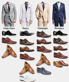 Abito nero uomo scarpe marroni