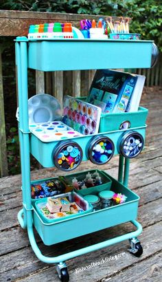 How to Set Up a Kids Arts Crafts Cart, Art Supply Cart for Kids, Easy to set up Arts and Crafts space for kids, Homeschool ideas, Preschool areas, Kid Space