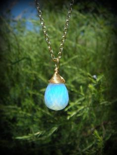 Kingdom Hearts mini / FACETED, geekery, Opalite Glass Moonstone on gold chain or black cord / Replica for Anime Cosplay - Kairi