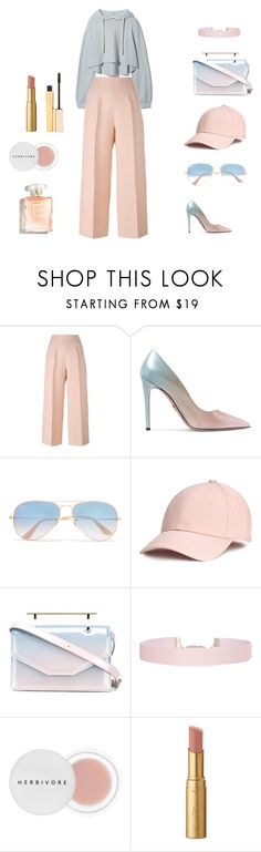 """Untitled #5"" by merve-hotkid on Polyvore featuring Fendi, Prada, Ray-Ban, M2Malletier, Humble Chic, Herbivore, Too Faced Cosmetics and Stila"