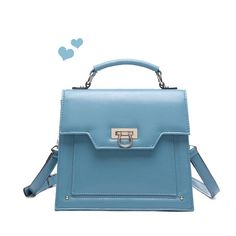 Trendy Vintage Solid Candy Color PU Leather Satchel for Women - Bags - Women's Style Free Shipping