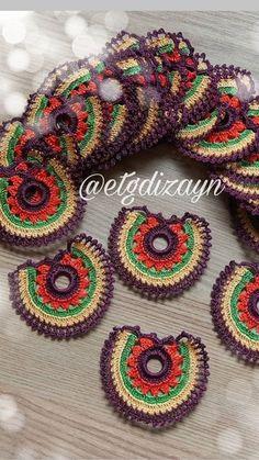 Crochet motif Crochet Basket Pattern, Crochet Motif, Crochet Lace, Crochet Necklace, Mandala, Blanket, Knitting, Pendant, Handmade