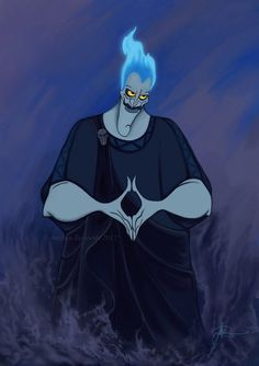 """Day 14: one of my favorite villains ever is Hades from """"Hercules"""", I never laughed so hard with a villain than when he's angry and fires himself up... It's a villain that, besides being evil, is hilarious!"""