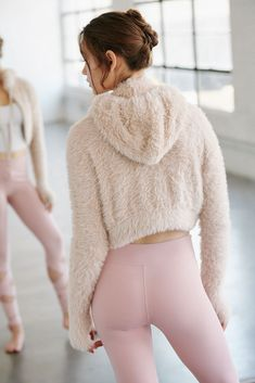 Warm And Fuzzy by FP Movement - Tan Fuzzy Hoodie - Cozy Lounge Hoodie Ballet Fashion, Yoga Fashion, Fitness Fashion, Fashion Brand, Fitness Style, Sporty Outfits, Cute Outfits, Baile Jazz, Tutu Skirt Women