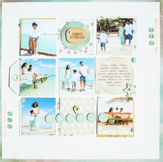 #papercraft #scrapbook #layout.  Color Studio - Challenge 2 by Neela at @Studio_Calico