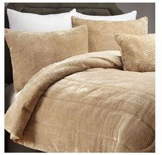 Alcove Tiger Fur 3 Piece Microfiber Comforter Bedding Set in Sand - King #Alcove