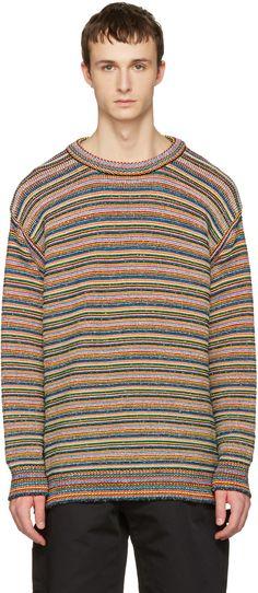 Stella McCartney - マルチカラー ニット ストライプ セーター
