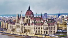Hungarian Parliament building view from Buda, Budapest, Hungary