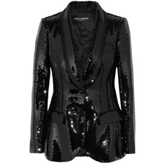 Dolce Gabbana Sequined satin blazer (203.800 RUB) ❤ liked on Polyvore featuring outerwear, jackets and blazers