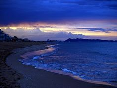 La hora azul de Gandia (Valencia)