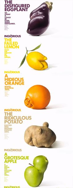 French supermarket chain Intermarché has scored a marketing, viral and ethical hit with its sustainably focused Inglorious Fruits and Vegetables campaign Fruit And Veg, Fruits And Vegetables, Apple Doctor, French Supermarkets, Food Branding, Fruit Photography, Best Doctors, Food Waste, Being Ugly
