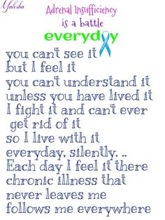 Adrenal insufficiency is a battle every day