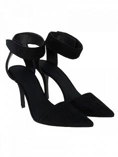 Shop Black Suede Thin Heeled Heels from choies.com .Free shipping Worldwide.$79.9