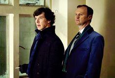 Sherlock Holmes and Mycroft (Benedict Cumberbatch and Mark Gatiss)