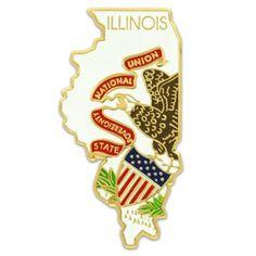 Illinois State Flag Pin | State Flag Pins | PinMart | PinMart
