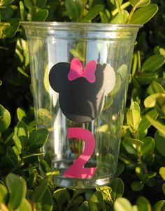 12 Mickey Mouse Party Cups, Minnie Mouse Party Cups. $6.50, via Etsy.