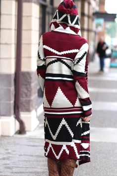 Wrap Me Up Long Aztec Hooded Cardigan (Wine) http://www.nanamacs.com/wrap-me-up-long-aztec-hooded-cardigan-wine/
