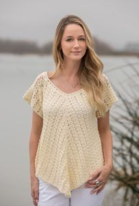 Annie's Signature Designs announces Spring Breeze Collection, 20+ knit and crochet patterns for the modern yarn crafter. This is an exclusive pattern collection of 20+ knit and crochet designs coming out on February 10, 2017.  Serein (pattern by yours truly) in cream made with Mimosa!