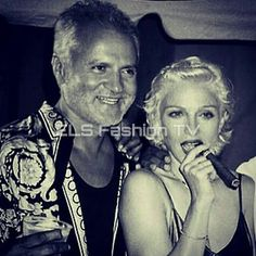 #gianniversace #fashion #designer  with #madonna. #remember #celebrity. More #photos  coming soon on  #elsfashiontv  @elsfashiontv  #me #photooftheday #instafashion #instacelebrity  #instaphoto #newyork #london #tokyo #milan #manhattan #miami #style  #sexy #glamour #fashionista #marieclairerussia #fashionmagazine #fashionweek #paris #tvchannel #fashiontrends