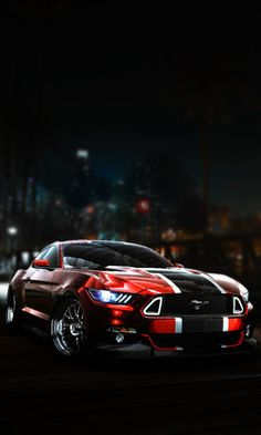 Need for Speed, Ford Mustang, dark, art, 480x800 wallpaper