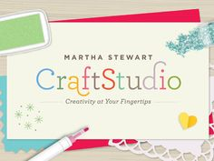 Download Martha Stewart CraftStudio in the App Store on iTunes. Create, print and share cards using photos, stickers, stamps, glitter and more!