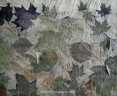 Feltunik ecoprint maple leaves!!!