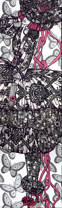 FASHION ART SCREEN One of a kind. $2,000.00, www.denisefike.com