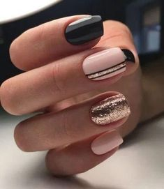 90 Everyday Nail Art Ideas 2019 in our App. Daily ideas of manicure and nail design. Gorgeous nails always! : 90 Everyday Nail Art Ideas 2019 in our App. Daily ideas of manicure and nail design. Gorgeous nails always! Chic Nails, Classy Nails, Stylish Nails, Simple Nails, Trendy Nails, Short Gel Nails, Nagellack Design, Nails Design With Rhinestones, Fall Acrylic Nails