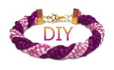 DIY: Spiral macrame bracelet / Спиральный макраме браслет (жгут) Anchik Martynova