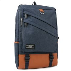 S. Korea Mens College Backpack - Backpack for Laptop School Bag , 13 Laptop compartment and Pocket for iPad, A wide and variety of internal storage space