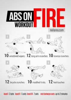 Take your abs to the next level with a workout designed to sculpt them fast. This will really set your abs on fire but it will also give you...