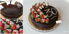 Classic Italian cake with 2 choccolates and strawberries