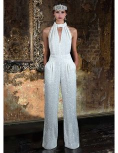 0af93cd4b82 Bring all the glamour to your wedding day with this incredible wedding  jumpsuit designed by Eliza