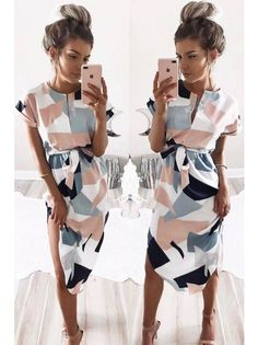 Sera - Geometric Pencil Dress. Awesome for work or date night.