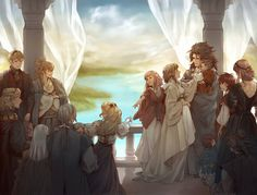 """""""I waited to post my full piece for on the anniversary of vaughan and ryoma's wedding LOL I THOUGHT IT WAS FITTING! i cant thank co-mod and all the participating artists enough for making this zine possible. and ty to all of u who supported it! Fire Emblem Birthright, Pokemon, All Anime, Anime Stuff, Anime Art, Fire Emblem Fates, Disney Fantasy, Blue Lion, Fire Emblem Awakening"""