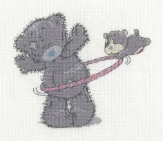 Hula Hoop Cross Stitch Kit - Tatty Teddy & My Blue Nose Friends £18.20 | Past Impressions | DMC