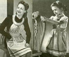 INSTANT DOWNLOAD-Vintage 1940s make do and mend wartime aprons made from old clothes diagram sewing pattern-pdf email delivery