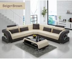 IFUNS China export modern design l shape sectional sofa set living room furniture corner chaise top grain italian leather (fr)