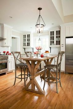 30 Kitchen islands with tables a simple but very clever bo