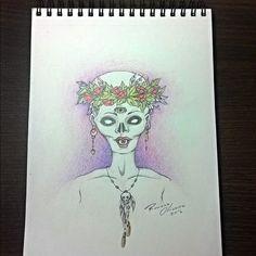 """""""S/ nome"""" (lápis de cor) #art #arte #ilustração #desenho #dibujo #drawing…"""