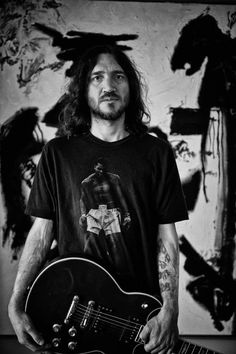 John Frusciante helps me get through each day. I listen to his music no matter where I am or what I am doing. He speaks to my soul.