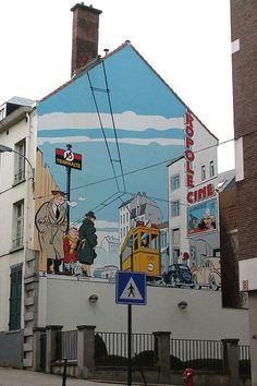 3d Street Art, Grafitti Street, Murals Street Art, Amazing Street Art, Art Mural, Mural Painting, Street Artists, Wall Street, Escalier Art